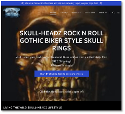 Redirect domain to Goth Biker Jewelry site